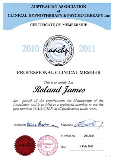 Clinical Hypnotherapist Certificate - Australia