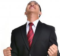 Man feeling stress in his life