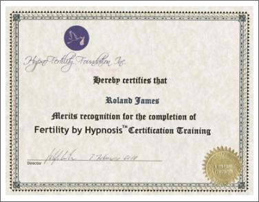 Hypnotherapy certificate