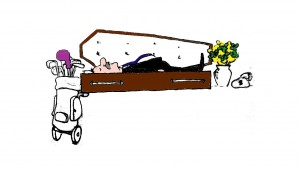 bank manager in his coffin