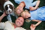 Happy family feeling no stress