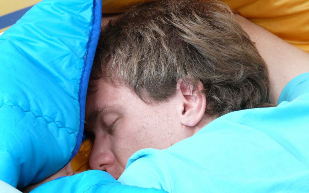 man sleeping - sleep better