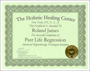 Past Life Regression Certificate