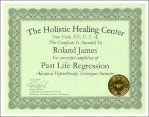 Past Life Regression Certificate