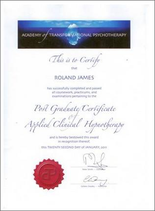 Post Grad Certificate Hypnotherapy