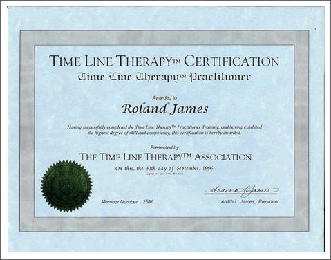 Time Line Therapy Certificate